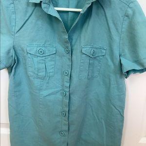 Croft and Barrow Linen Button down Shirt